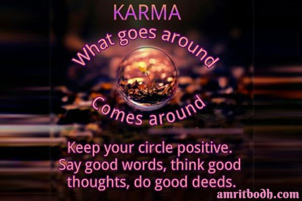 Image result for great quote for justice served through karma